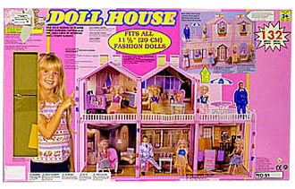 Домик для кукол разработан таким