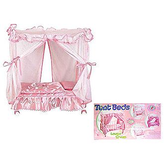 кроватка b для /b куклы с балдахином.