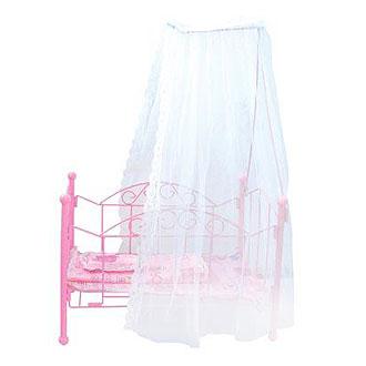 Кровать с балдахином для куклы барби своими руками 56