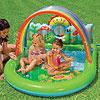 Intex надувной игровой центр для детей Радуга, 155х130х84см