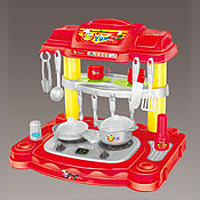 Игрушка - Play smart Набор посудки с плитой Kitchen Set, 44х33х41см